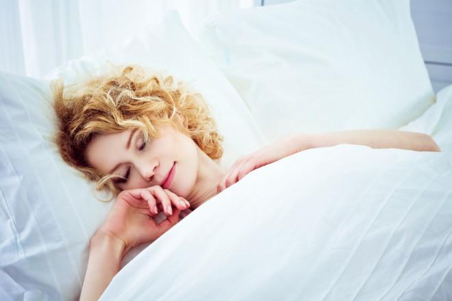 Sleeping blonde
