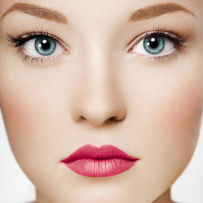 Close-up female face