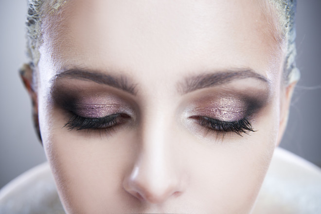 Professional beauty eyes makeup