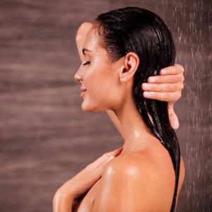 Enjoying a shower.