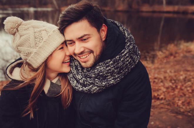 冬の日のカップル