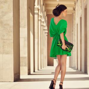 Beautiful woman wearing splendid dress