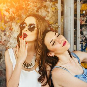 Two young beautiful girls