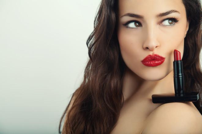 red lush lips