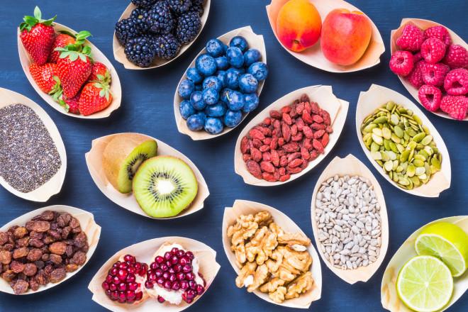 Healthy, vegan, super food background.