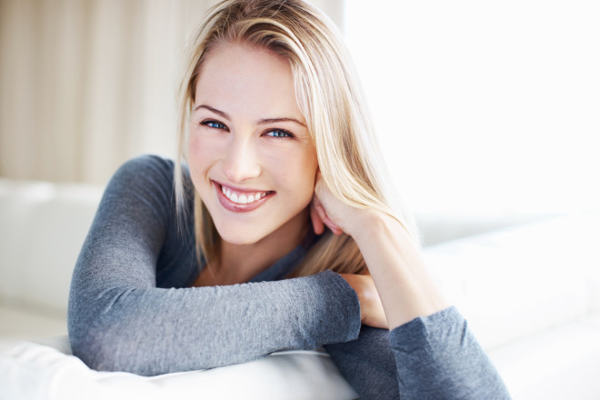 Woman with a stunning smile