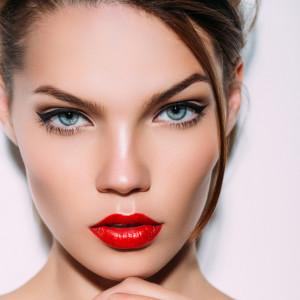 Indoor shot of young beautiful woman