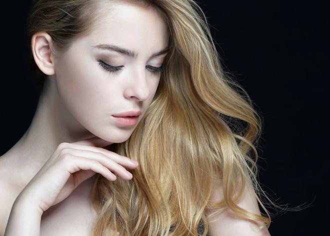 Beautiful Girl face. Perfect skin.