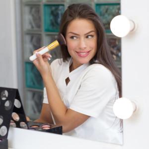 Woman wearing make up, natural beauty