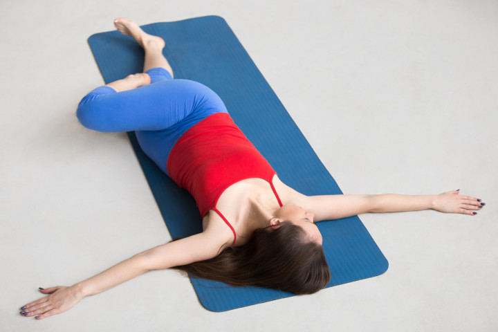 Yoga Indoors: Revolved Abdomen Pose