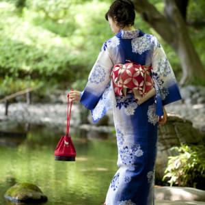 young woman in kimono