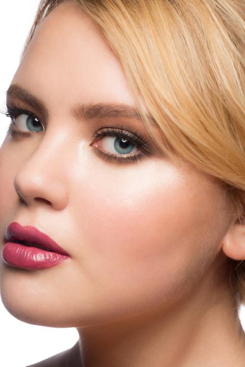 Woman with stylish beautiful makeup
