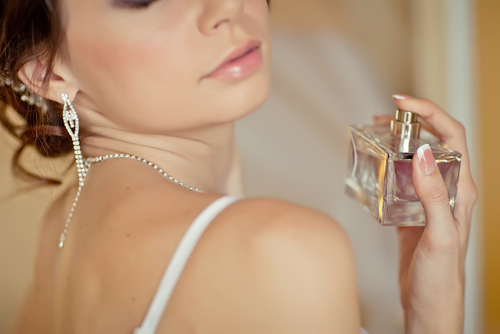 香水をつける