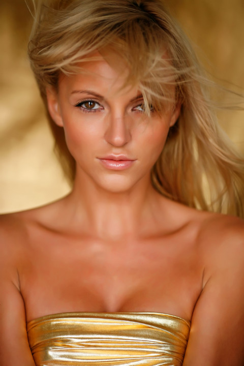 beautiful woman with huge attracting eyes