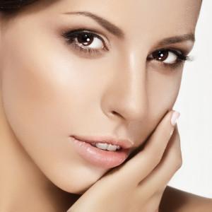 Close-up of beautiful female face, beauty portrait