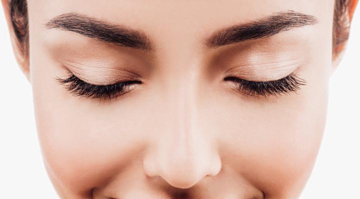 Eye woman eyebrow eyes lashes