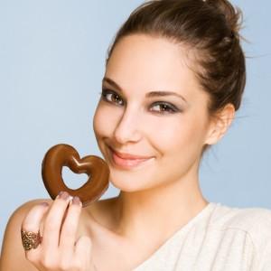 チョコレートと女性