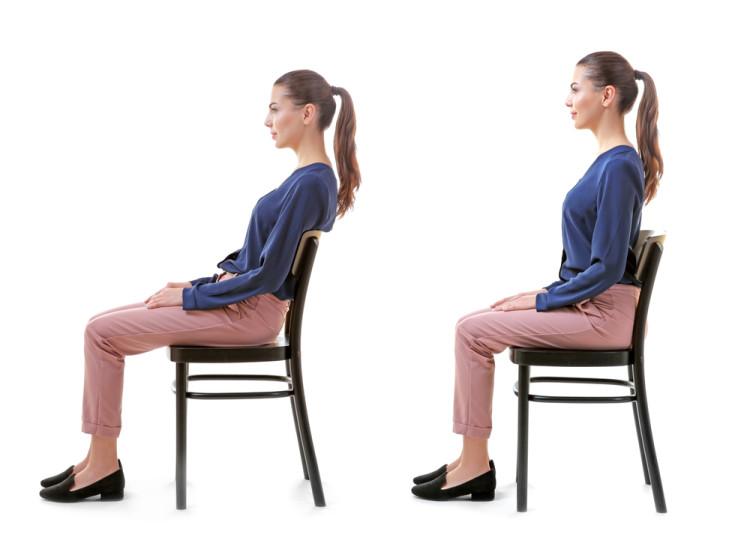 座っているとき