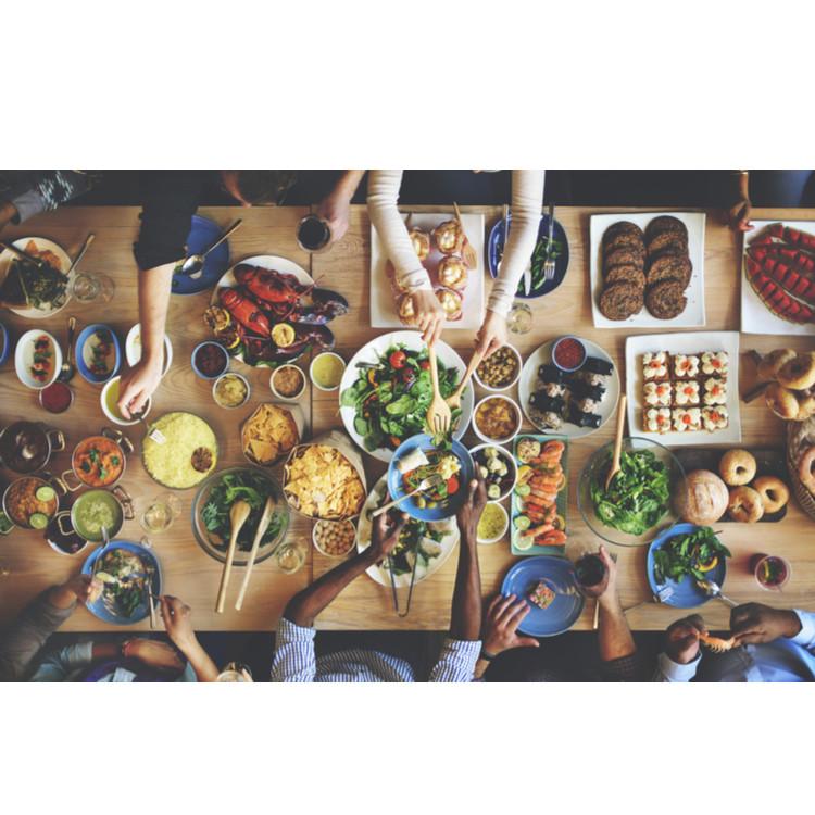 たくさんの食事