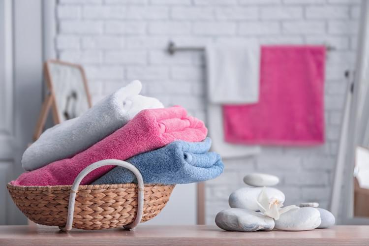 洗顔後のタオル