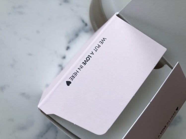 開けると箱にメッセージが
