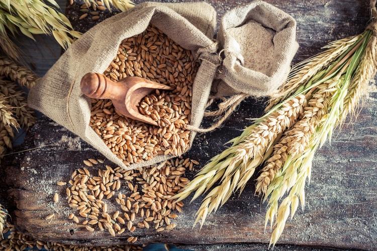 全粒粉の穀物
