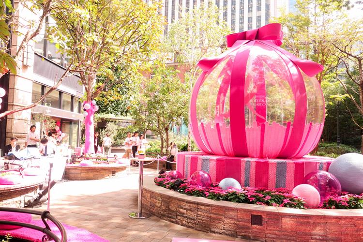 ピンク リボン ガーデン等を訪れ写真を広め、支援商品の購入で協力を