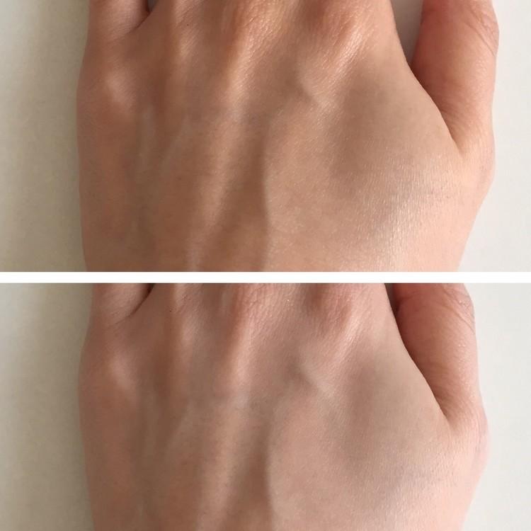 手に塗って比較してみました