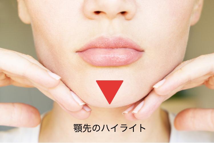顎の三角ゾーン