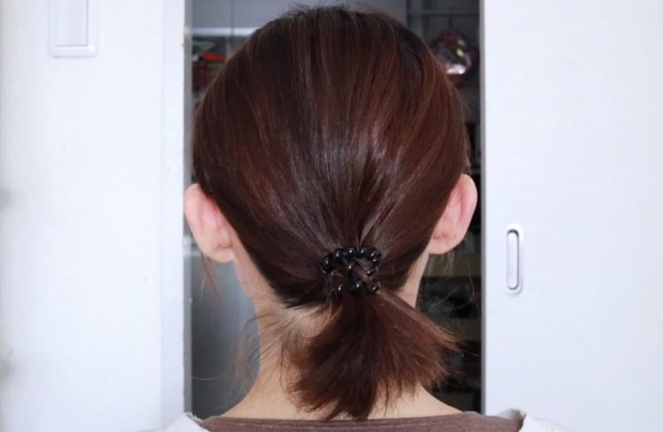 上の髪の毛を下ろして完成
