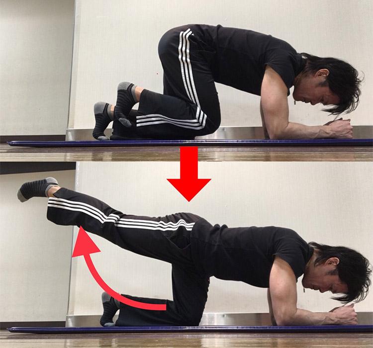 股関節伸展動作を高めるストレッチ