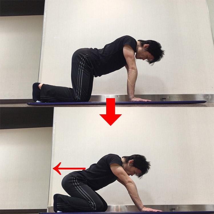 股関節の屈曲動作を高める動的ストレッチ