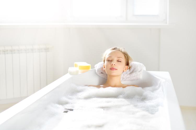 全身浴で素早く体を温める