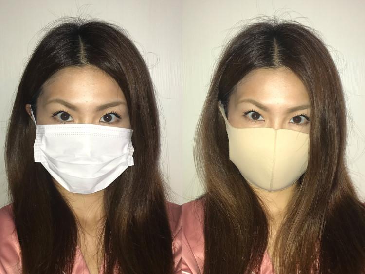 不織布マスク VS  立体マスク