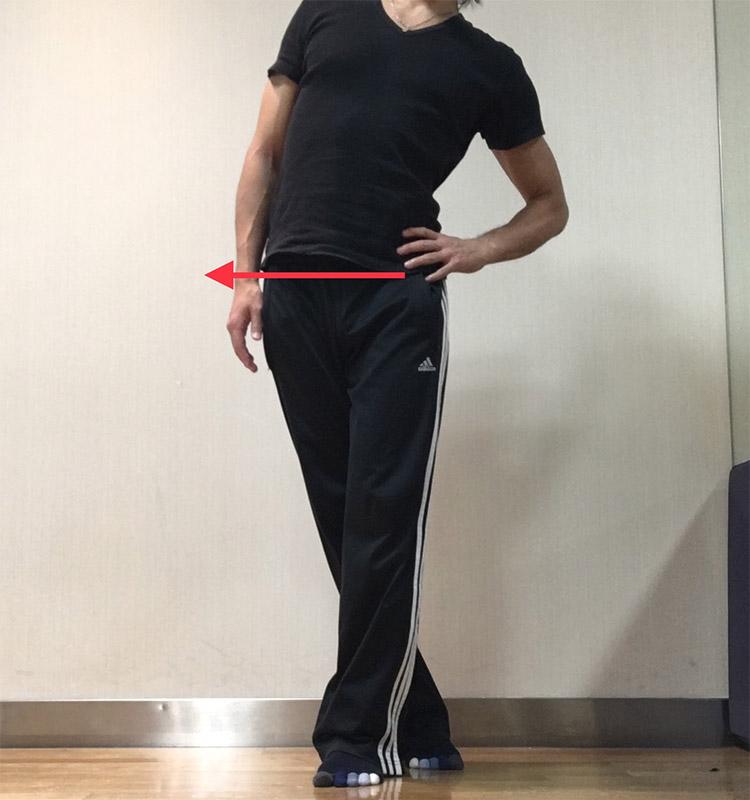 股関節外転筋群への静的ストレッチ