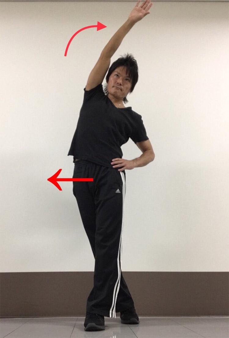体幹側筋群への静的ストレッチ