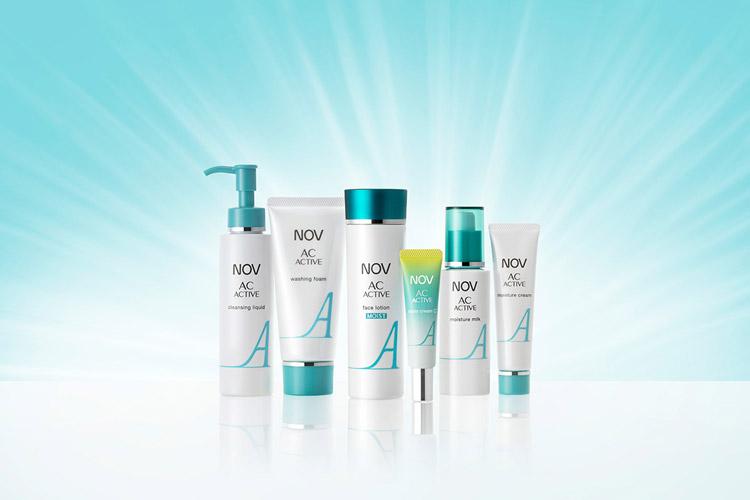「ノブ ACアクティブシリーズ」より化粧水と部分用美白クリームがリニューアル