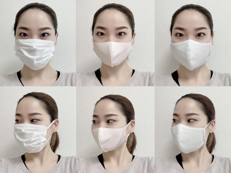 一般的な不織布マスク(写真左)と比較